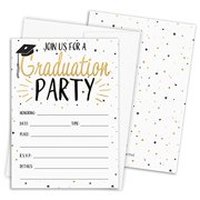 Graduation Party Invitations with Self-Sealing Envelopes, 25 Count