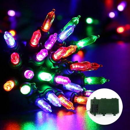 Qedertek Christmas Battery String Lights 50 LED With 8 Modes Lighting
