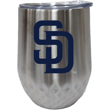 San Diego Padres 12oz. Stainless Steel Stemless Diamond Tumbler San Diego Chargers Travel Tumbler