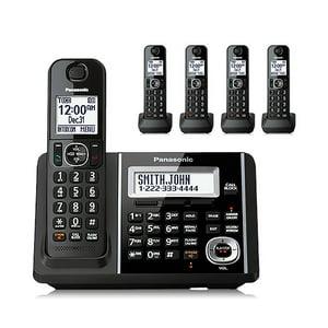 Panasonic Cordless Phone and Answering Machine with 5 Handsets