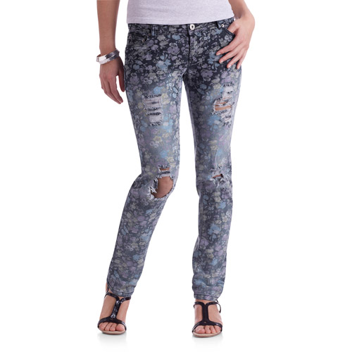 G21 Juniors Destroyed Skinny Jeans - Walmart.com