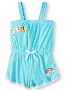 Unicorn Patches French Terry Romper Coverup (Little Girls & Big Girls)