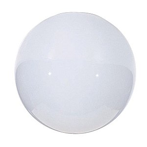 Satco 6in NeckLess Opal Ball Glass Globe Shade Blown Glossy Opal 3in Opening