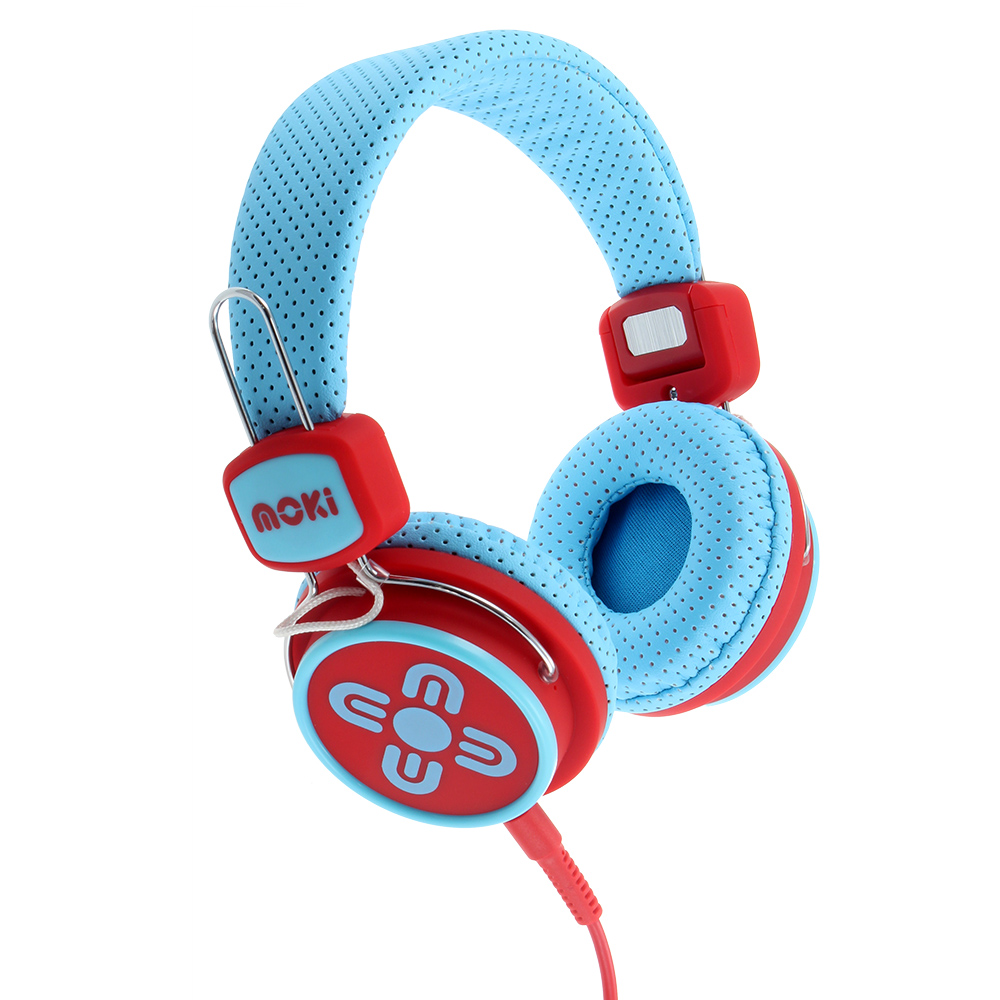 Kid Safe Volume Limited Blue & Red Headphones