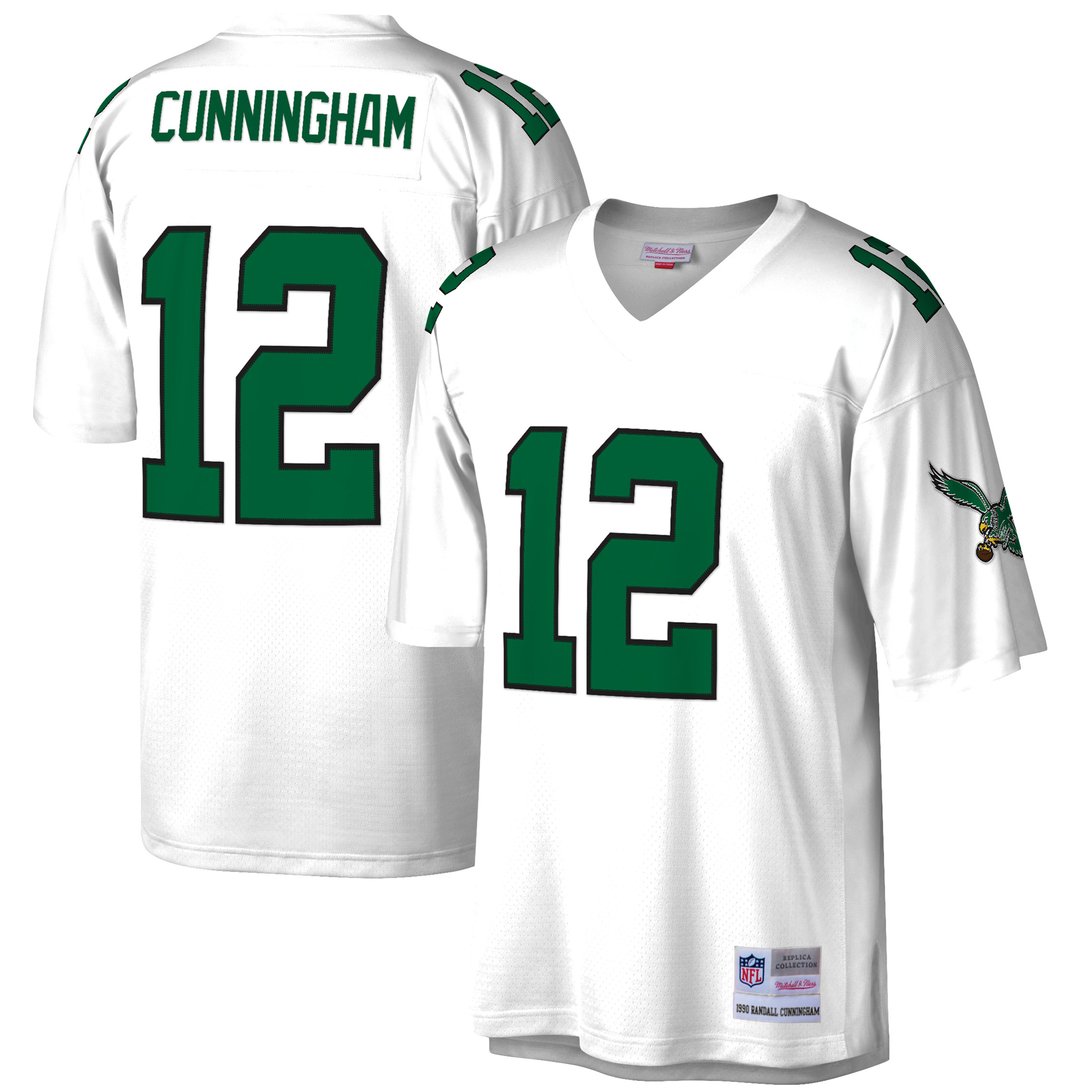 the best attitude 16533 2069c Randall Cunningham Philadelphia Eagles Mitchell & Ness Retired Player  Vintage Replica Jersey - White