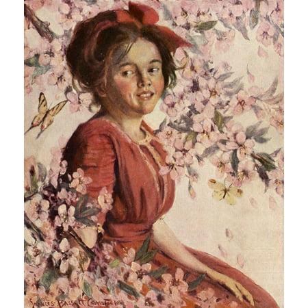 Comstock Castle 36 Inch Range (St Nicholas Magazine 38 Girl Stretched Canvas - Frances Bassett Comstock (24 x)