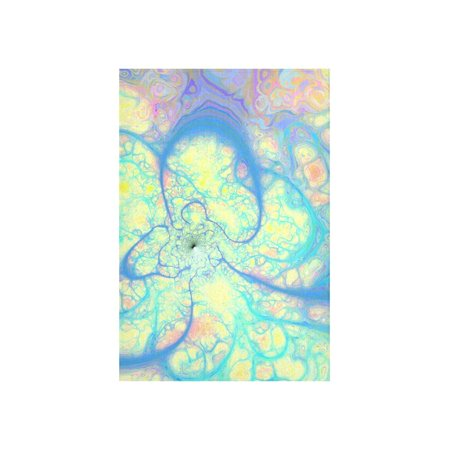 CADecor Blue Angel, Abstract Cosmic Azure Lemon Wall Tapestry Wall Hanging Wall Art Home Decor 40x60 inches