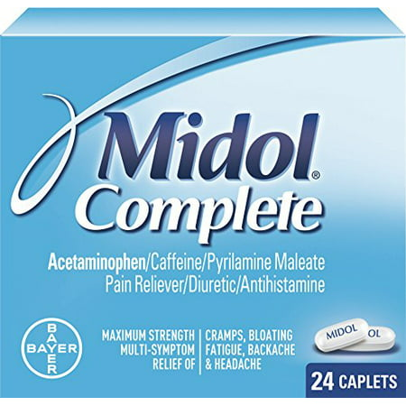 4 Pack - Midol menstruelles complète Caplets 24 Caplets Chaque