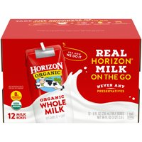 Horizon Organic Whole Shelf-Stable Milk, 8 Oz., 12 Count