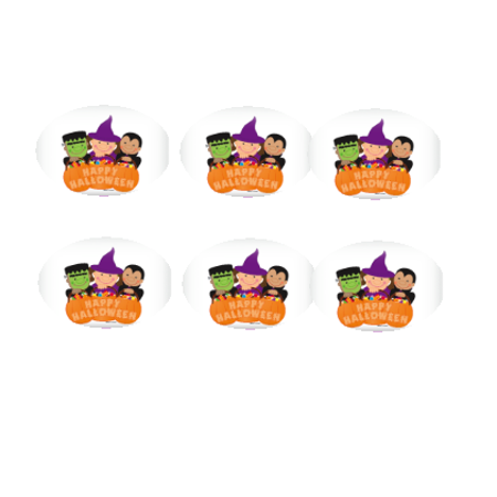 Happy Halloween Characters 12 - 2 inch Cupcake Edible Frosting Photos - Frosting Cupcakes For Halloween