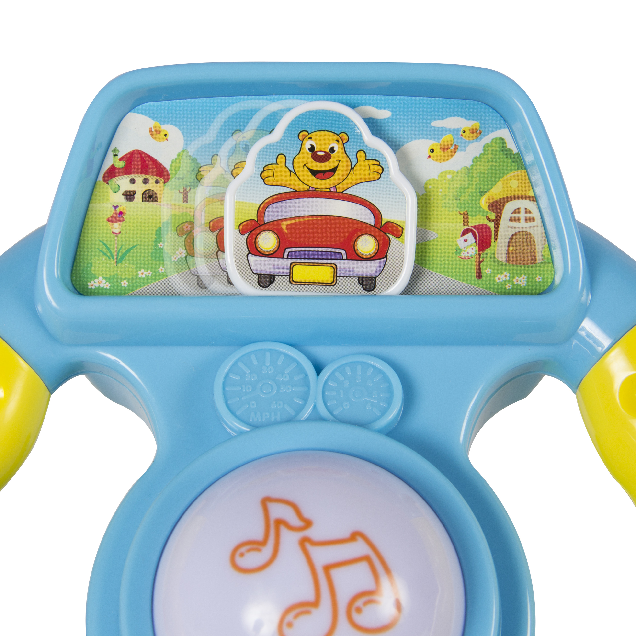 Toy Steering Wheel for Kids with Mirror Lights Music and Various ...