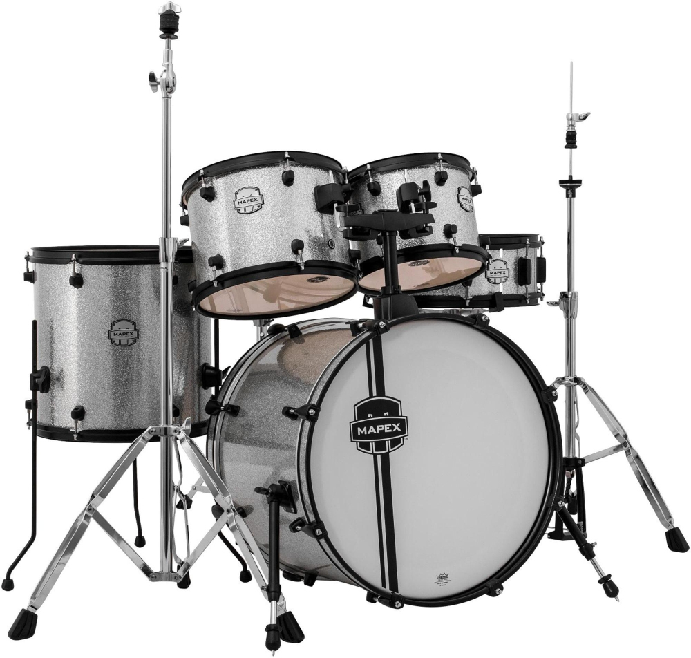 Mapex Mapex Voyager Jazz 5-Piece Drum Set with Black Hardware Crystal Sparkle by Mapex