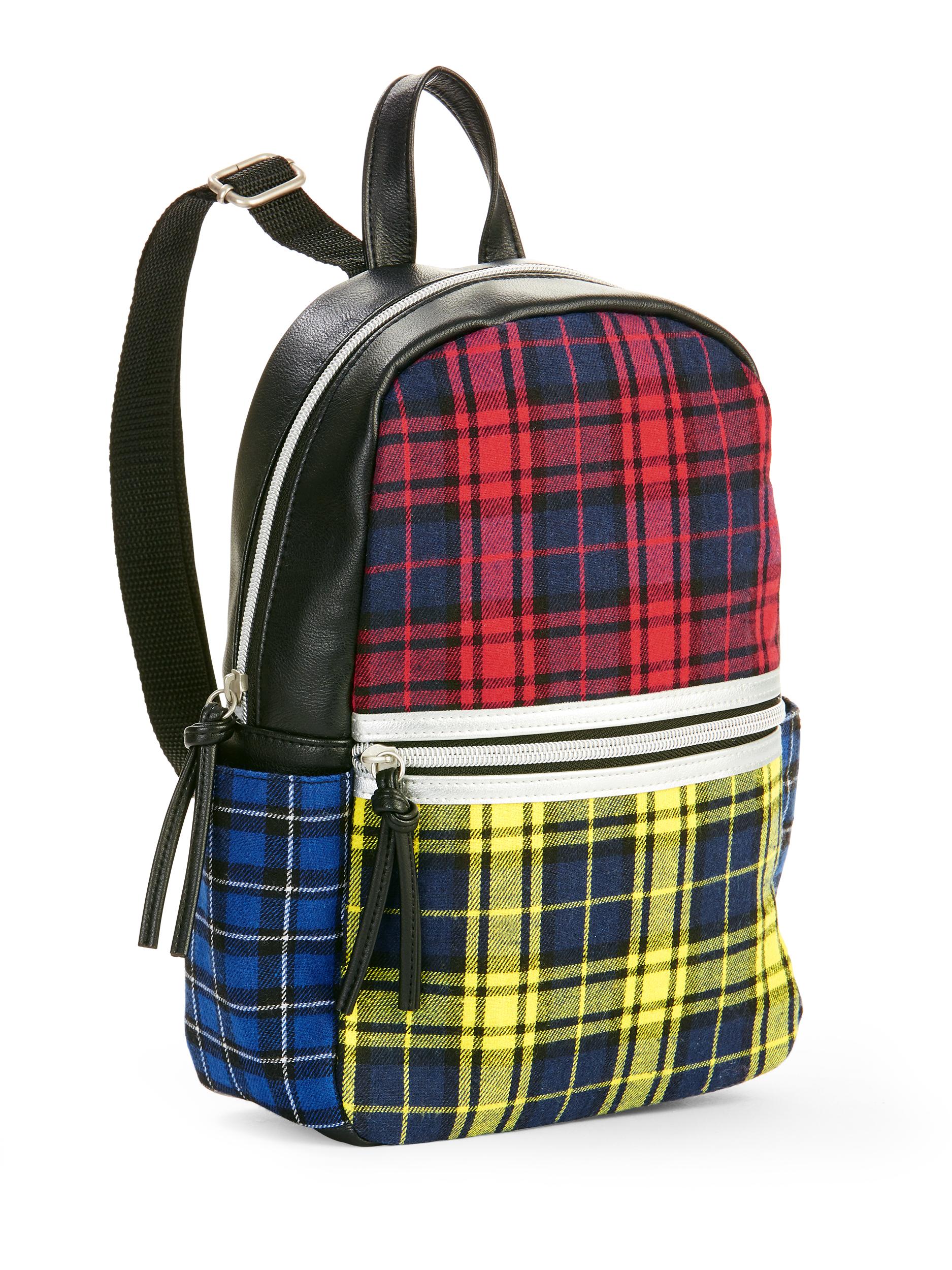 Twig & Arrow Plaid Mini Backpack