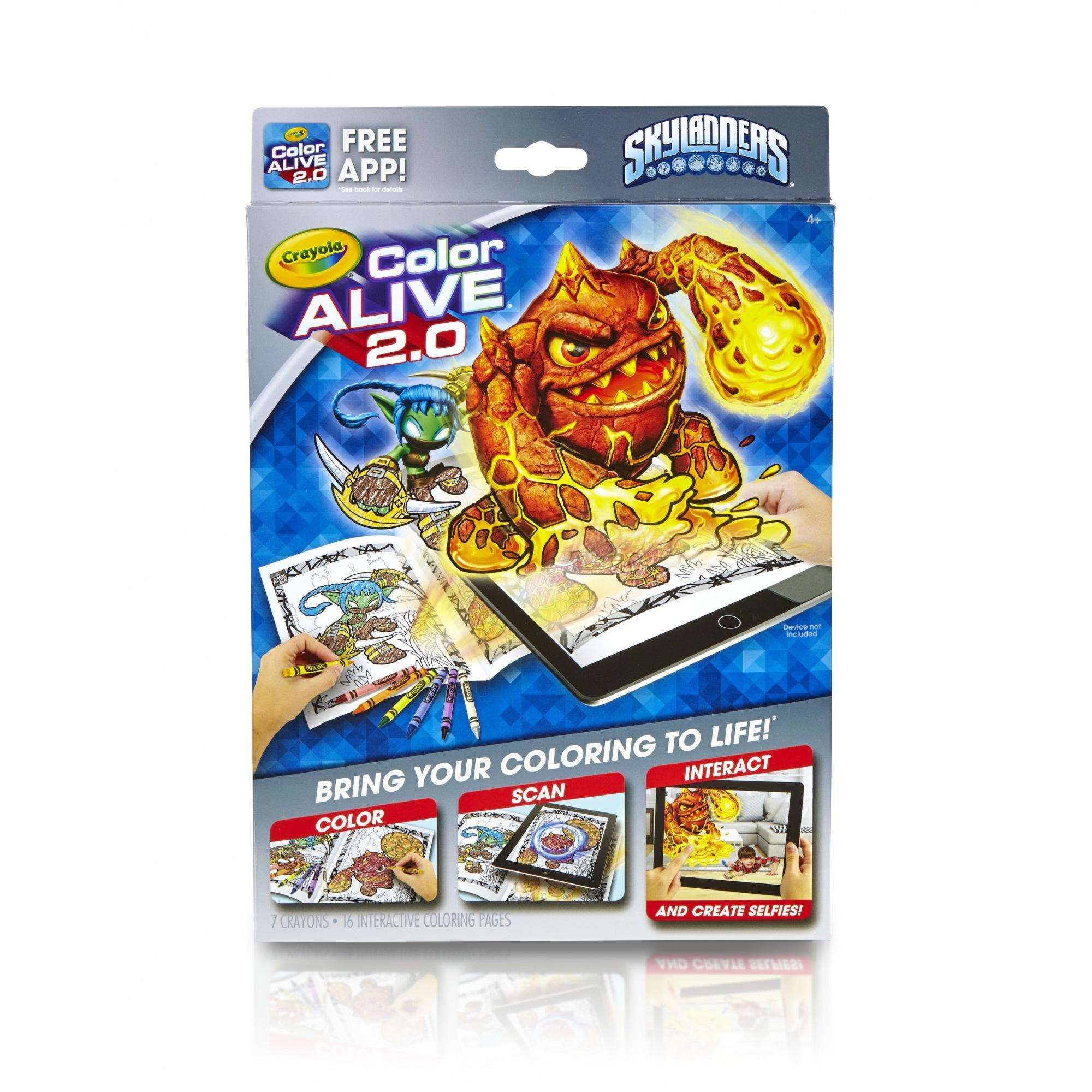 Crayola Color Alive 20, Skylanders Coloring Book With App, 16 Pages ...