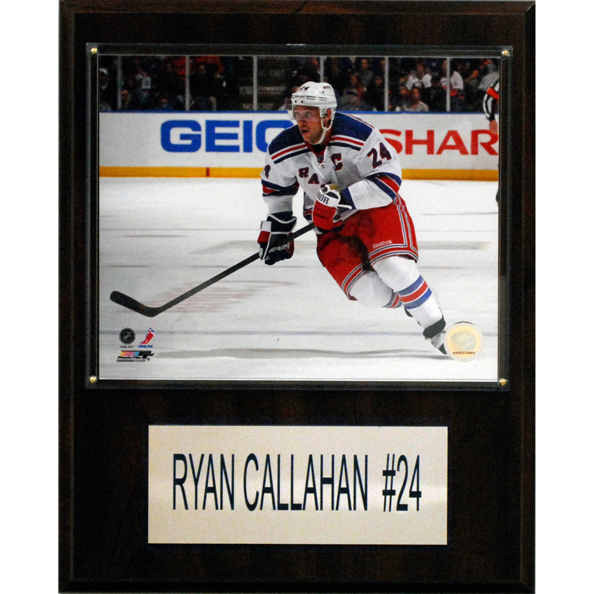 C&I Collectables NHL 12x15 Ryan Callahan New York Rangers Player Plaque