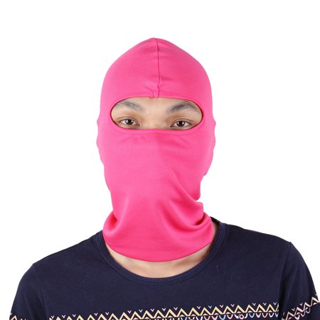 Motorcycle Full Face Mask Cover Neck Protecting Balaclava Cap Hat Fuchsia