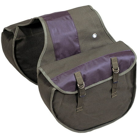 Stansport Canvas Saddle Bag, Black Onyx