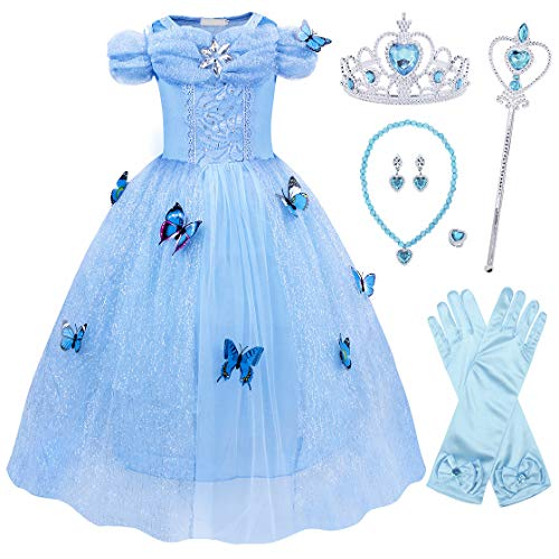 Elsa Blue Pink Colorful Frozen Princess Butterfly Wing 3 Layers Cosplay Costume Big handmade Elf Halloween NALUMI
