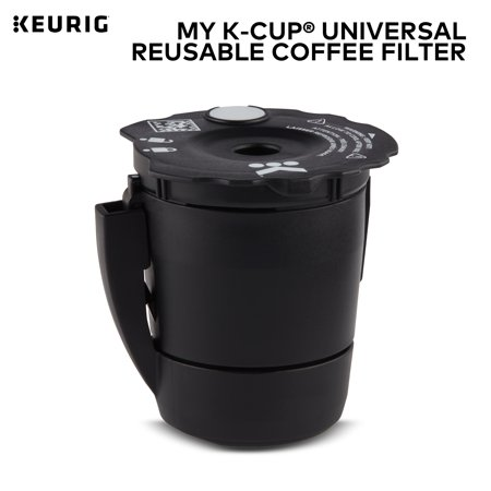 Keurig My K-Cup Universal Reusable Ground Coffee Filter, Compatible with All Keurig K-Cup Pod Coffee Makers (2.0 and (Best Reusable Coffee Filter)