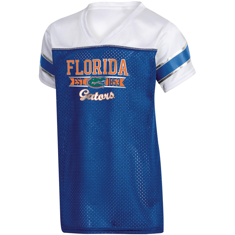 Girls Youth Russell Royal Florida Gators Team V-Neck T-Shirt