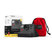 Polaroid Now Bundle with Black Camera and Red Travel Pouch (6153)