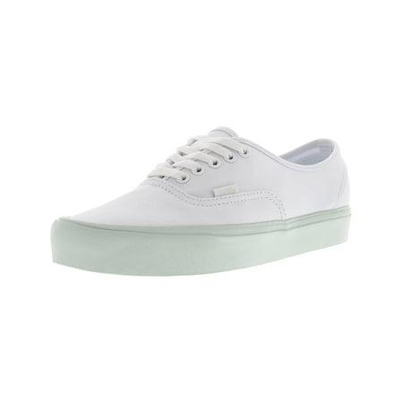 Vans Authentic Lite Pop Pastel True White Ankle-High Canvas Skateboarding Shoe - 10.5M / (Best Vans Shoes For Skateboarding)