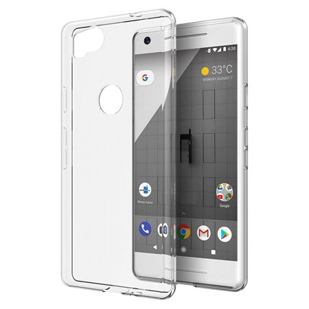 DreamWireless TPU Rubber Candy Skin Case Cover For Google Pixel 2, Clear