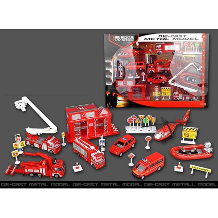 Fire Rescue Play Set Vehicle Playset Diecast Metal Modal Playset 66 67 Chevelle Gto Cutlass