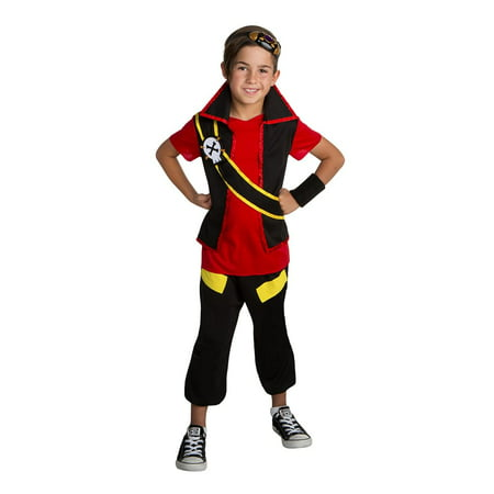 Zak Storm Super Pirate Zak Classic Boys Costume - Pirate Halloween Makeup For Boys