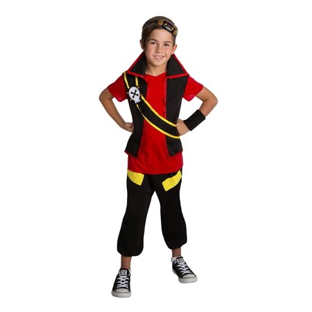 Zak Storm Super Pirate Zak Classic Boys Costume Medium - Red Linen Pirate