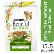 Purina Beneful Healthy Weight Dry Dog Food, Healthy Weight With Real Chicken, 15.5 lb. Bag