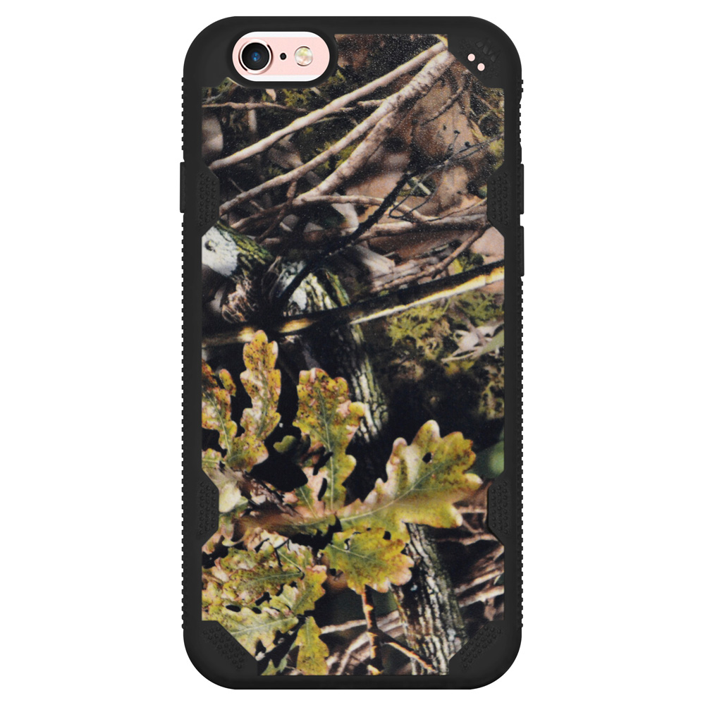 iPhone 6/6s Case, Hybrid Dual Layer Slim Protective Back Case Impact Resistant Gripped Designer Cover with Raised Bezel for iPhone 6/6s -English Oak II-Hunting Camouflage Collection/ Black Defyr