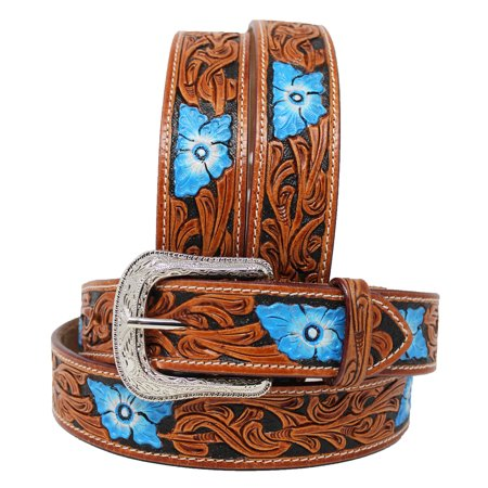 30-60  ProRider HANDMADE Floral TOOLED HEAVY DUTY WESTERN LEATHER BELT 2617RS