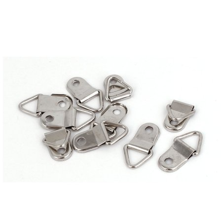 26mm X 14mm Single Hole Triangle D Ring Picture Frame Hangers Hooks