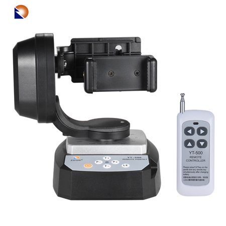 ZIFON YT-500 Remote Control Pan Tilt Automatic Motorized Rotating Video Tripod Head Max. Load 500g with Phone Holder 18650 (Best Phone Remote Start)