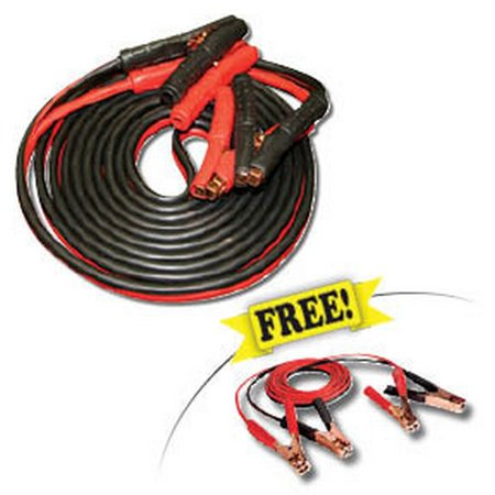 FJC 45255P Professional Booster Cable, Commercial Duty w/ FREE Light Duty Booster Cables Professional Commercial Duty Vac