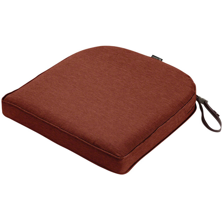 "Classic Accessories Montlake FadeSafe Contoured Patio Dining Seat Cushion, 2"" Thick, Heavy-Duty Outdoor Patio Cushion with Water-Resistant Backing"