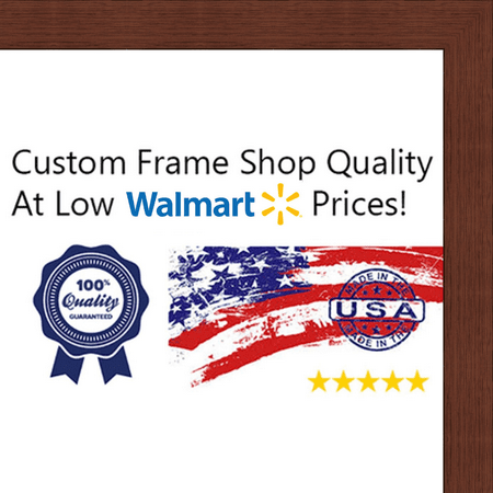 12 x 36 Flat Dark Cherry Wood Frame