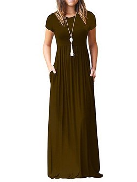 666f2c2e051 Product Image Casual Long Dress for Women Solid Color Long Sleeve Maxi Dress  with Pocket
