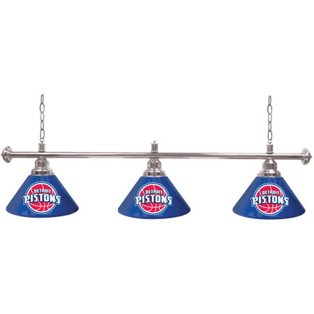 Detroit Pistons NBA 3-Shade Pool Table Light by