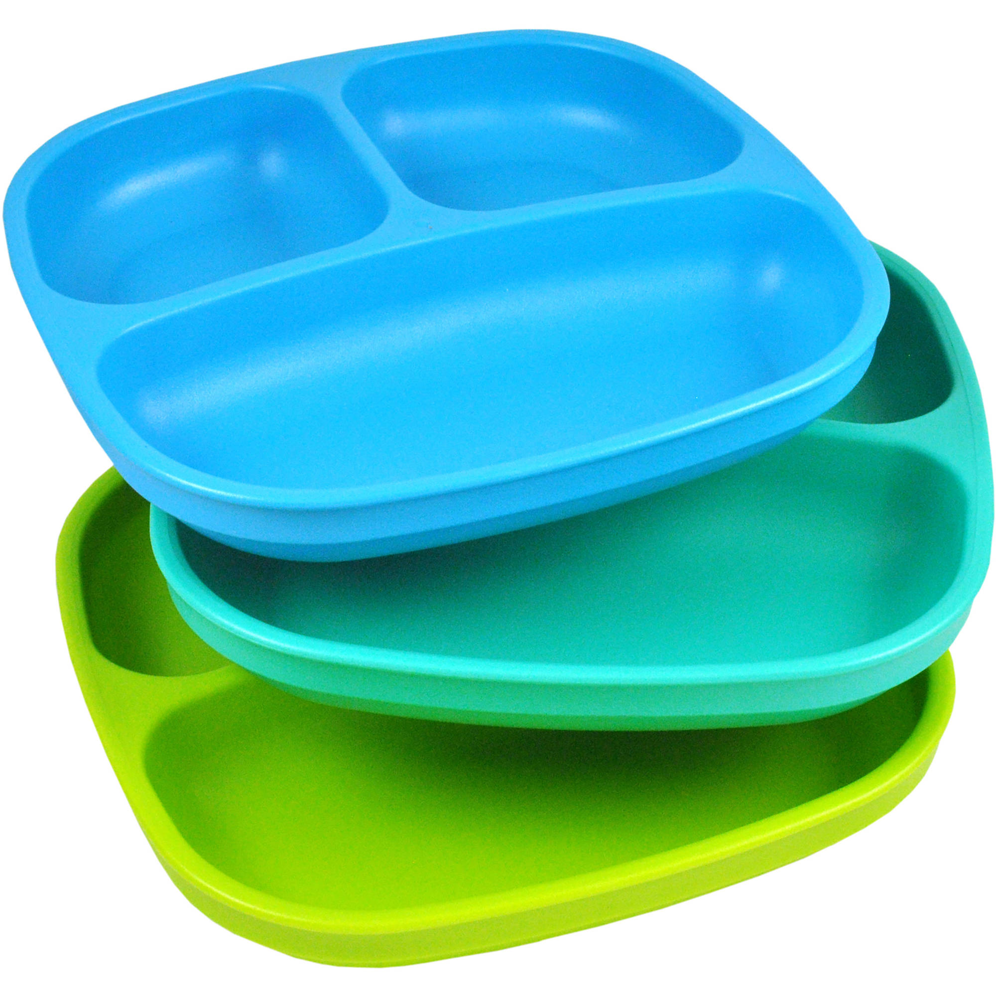 Re-Play 3-Pack Divided Plates, BPA-Free