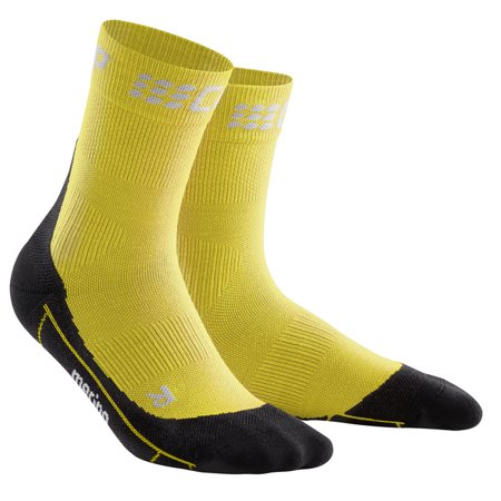 Men's Outdoor Compression Running Socks - CEP Trail Merino Mid-Cut (Best Trail Running Socks)