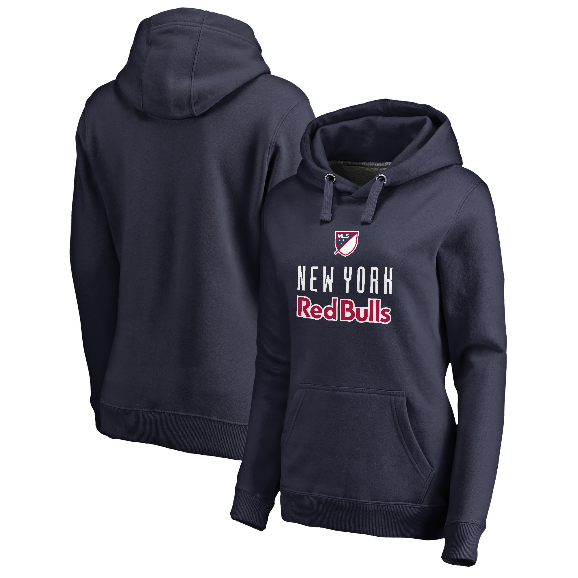 New York Red Bulls Fanatics Branded Women's Shielded Pullover Hoodie - Navy