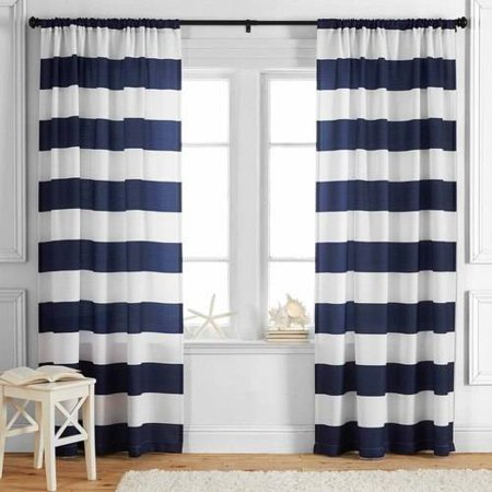 Better Homes and Gardens Stripes Curtain Panel](Gold Shimmer Curtains)