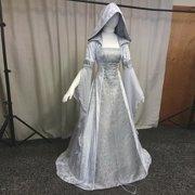 Women'S Fashion Vintage Celtic Long Sleeve Hooded Medieval Dress Floor Length Renaissance Gothic Dress Cosplay Halloween Costume