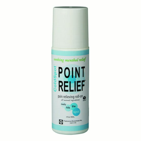 Relief 3 Bottles (Point Relief Coldspot Lotion, Roll-On Bottle, 3 Oz )