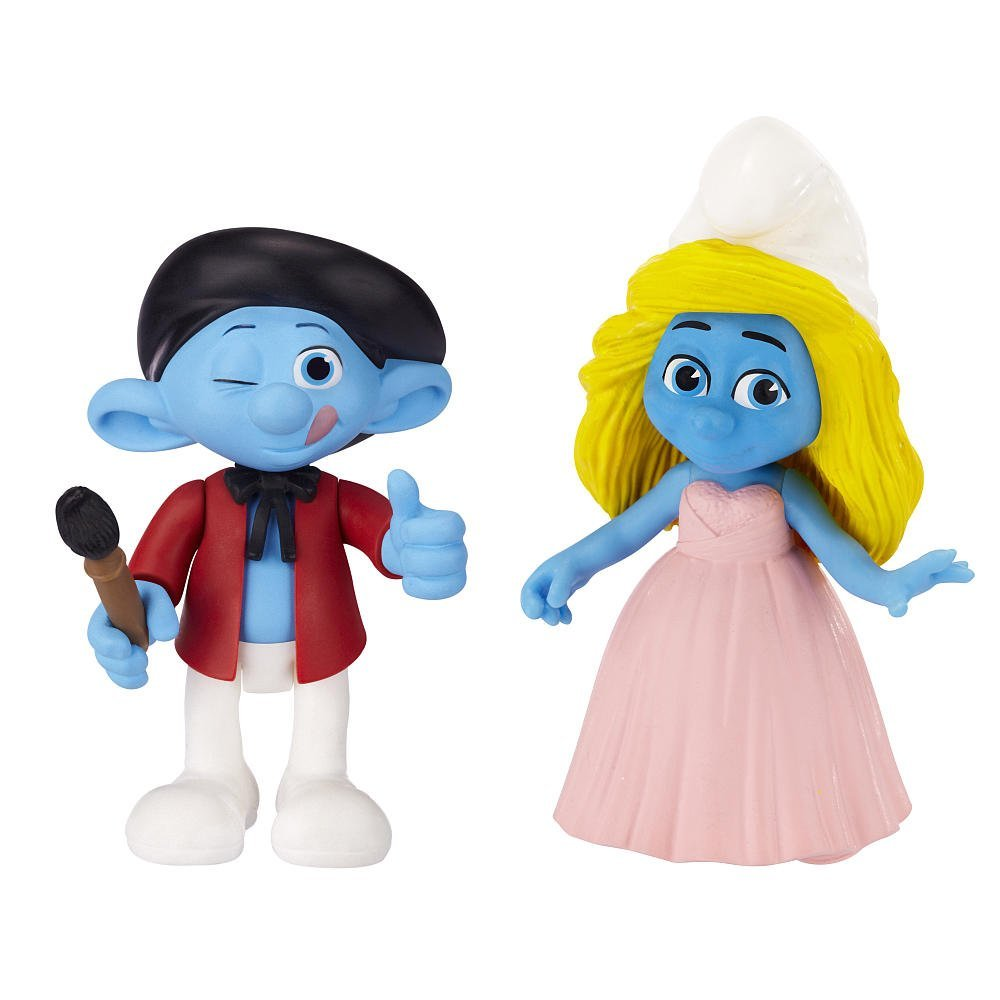 THE Smurfs Movie Figures 2 Pack SET Painter /& Smurfette SMURF KIDS  TOYS
