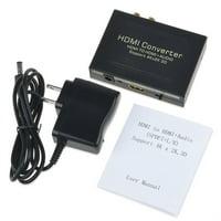 HDMI to HDMI + SPDIF + RCA L / R Audio Extractor Converter