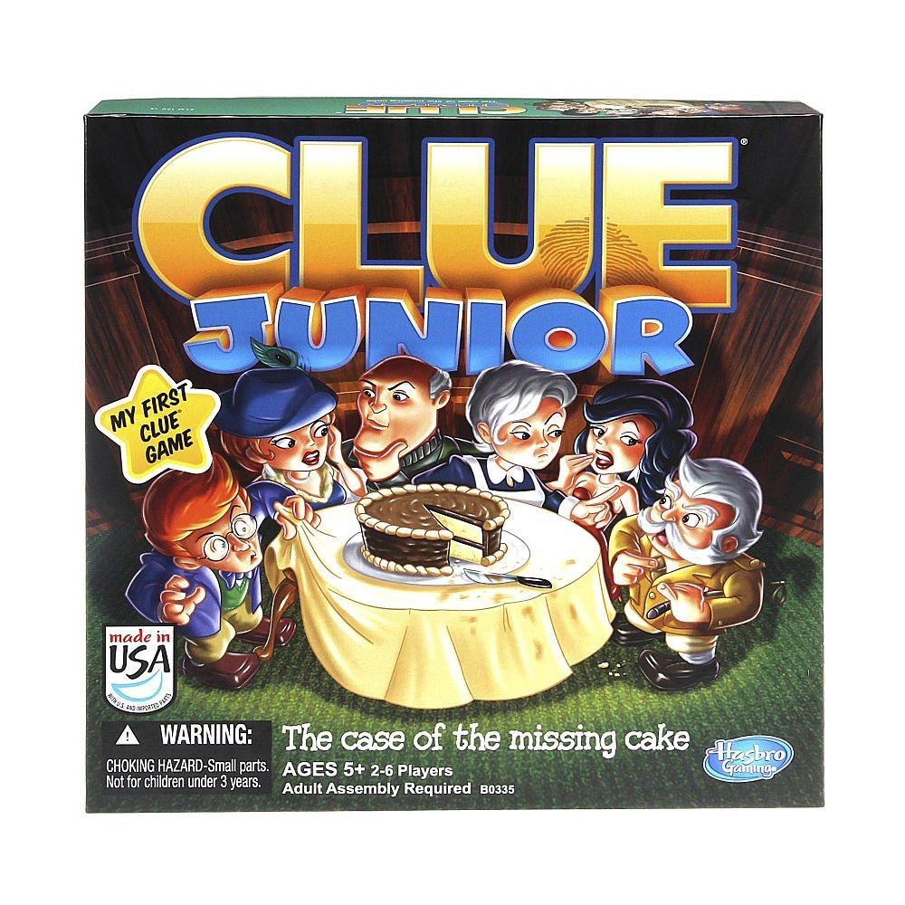 Hasbro Clue Junior Board Game The Case of the Missing Cake by