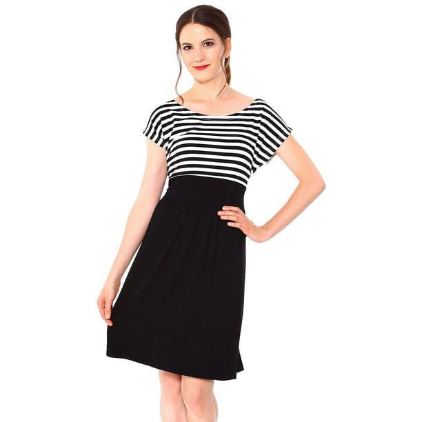 Simplicity Simplicity Women S Maternity Summer Baby Shower Dress Short Sleeves Blk White Walmart Com Walmart Com